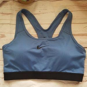 Nike Dri Fit Sports Bra Size Medium Blue